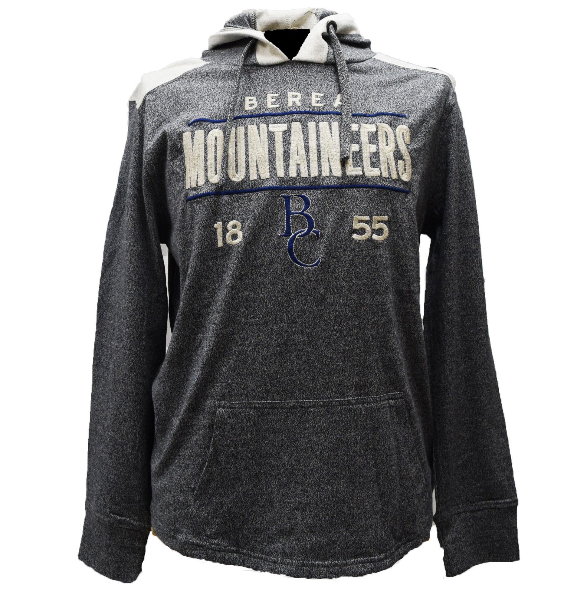 Gray Berea Mountaineers T-Shirt Hoodie-1
