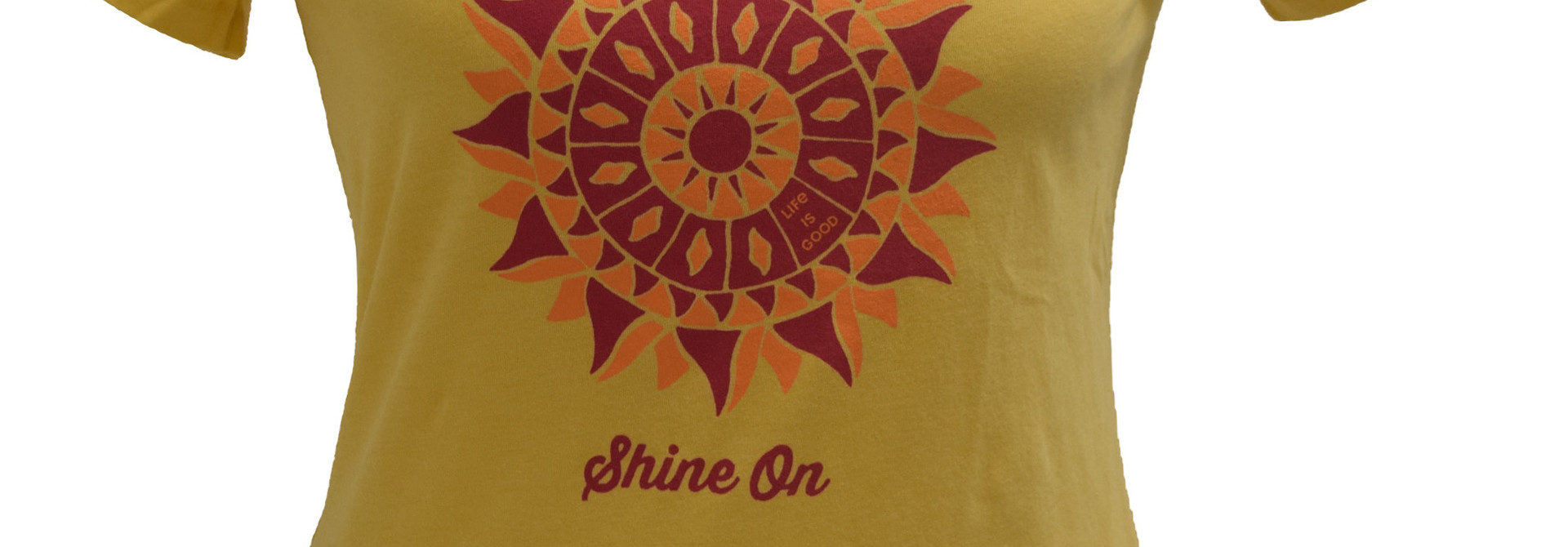 Baja Yellow Shine On Life Is Good T-Shirt