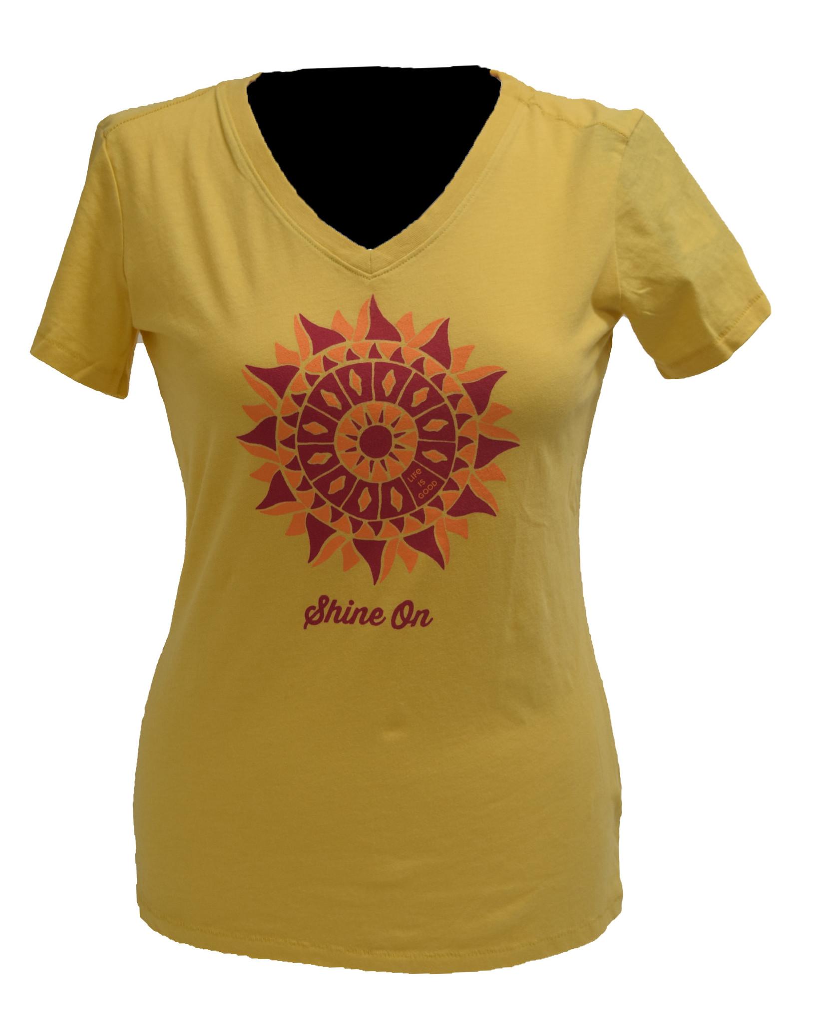 Baja Yellow Shine On Life Is Good T-Shirt-1