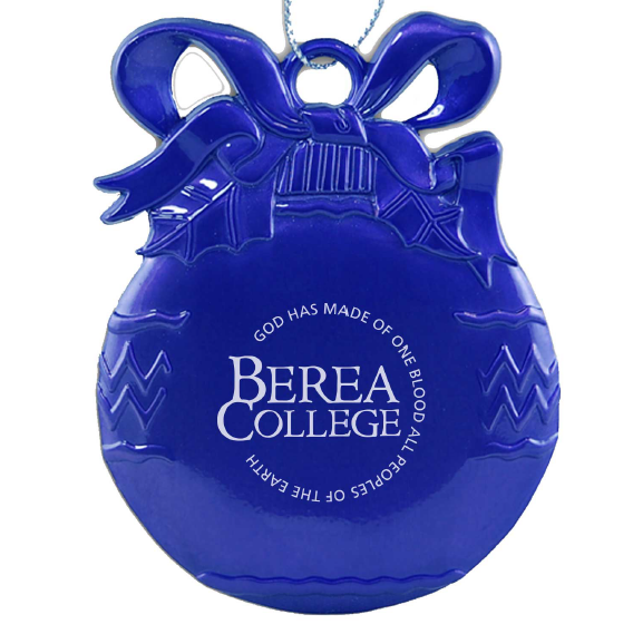 Blue Circle Logo Pewter bulb Ornament-1