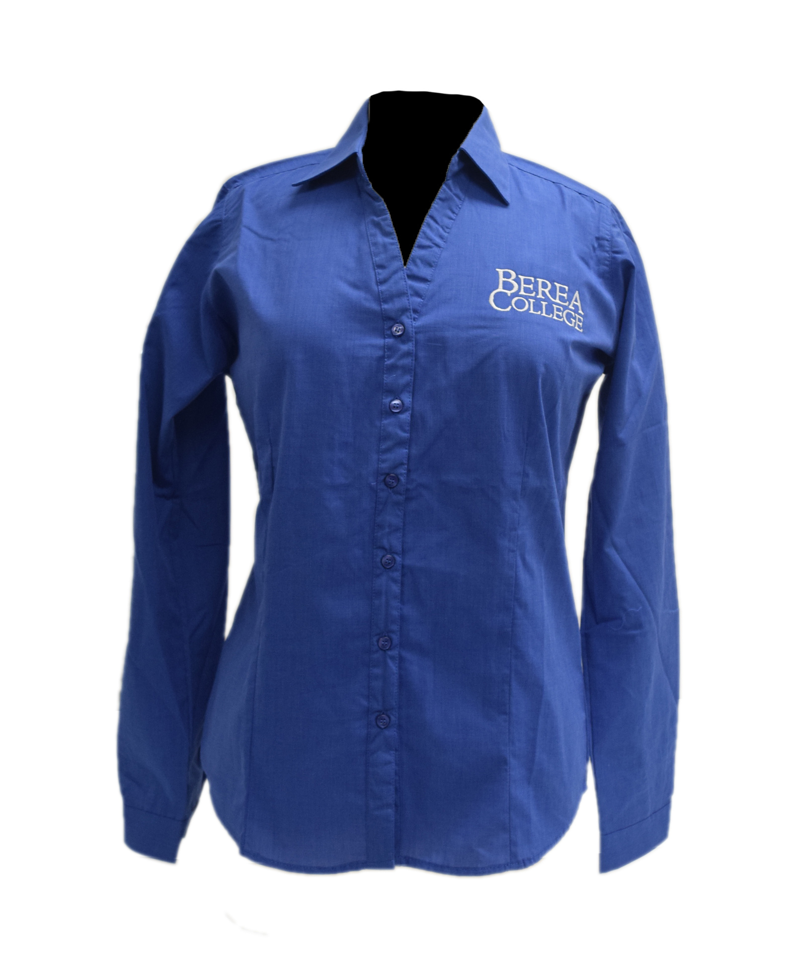 French Blue Berea College Dress Shirt-1