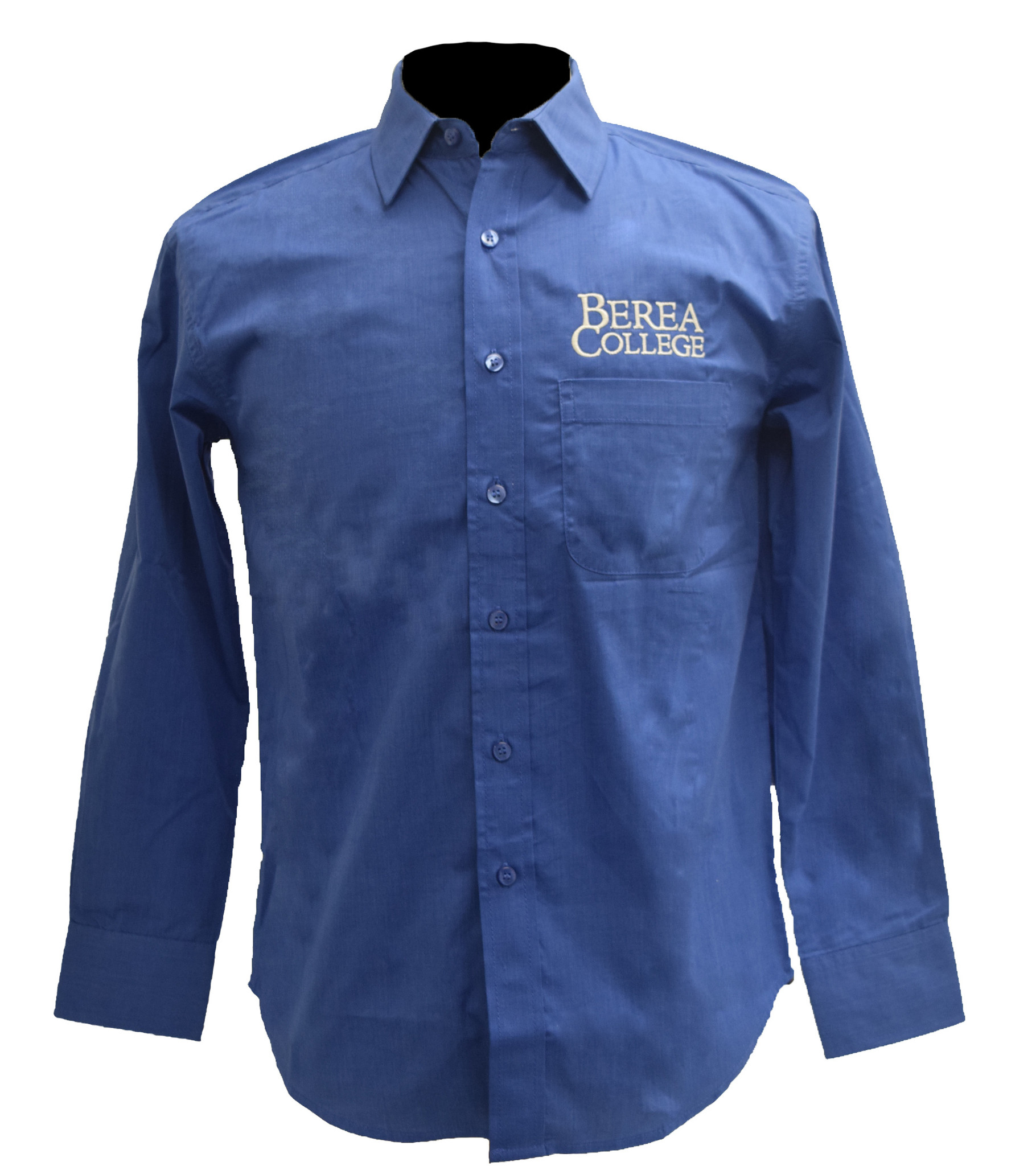 French Blue Berea College Dress Shirt-2