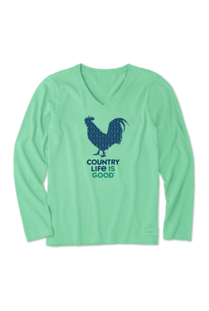Green Country Life Is Good Long Sleeve