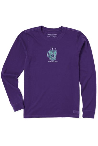 Hug In A Mug Purple Long Sleeve T-shirt