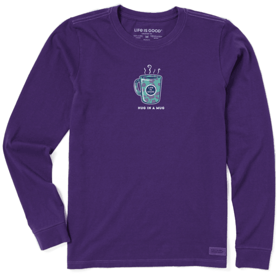 Hug In A Mug Purple Long Sleeve T-shirt-1