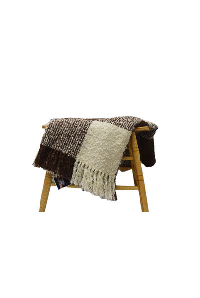 Cottage Throw Chocolate Plaid