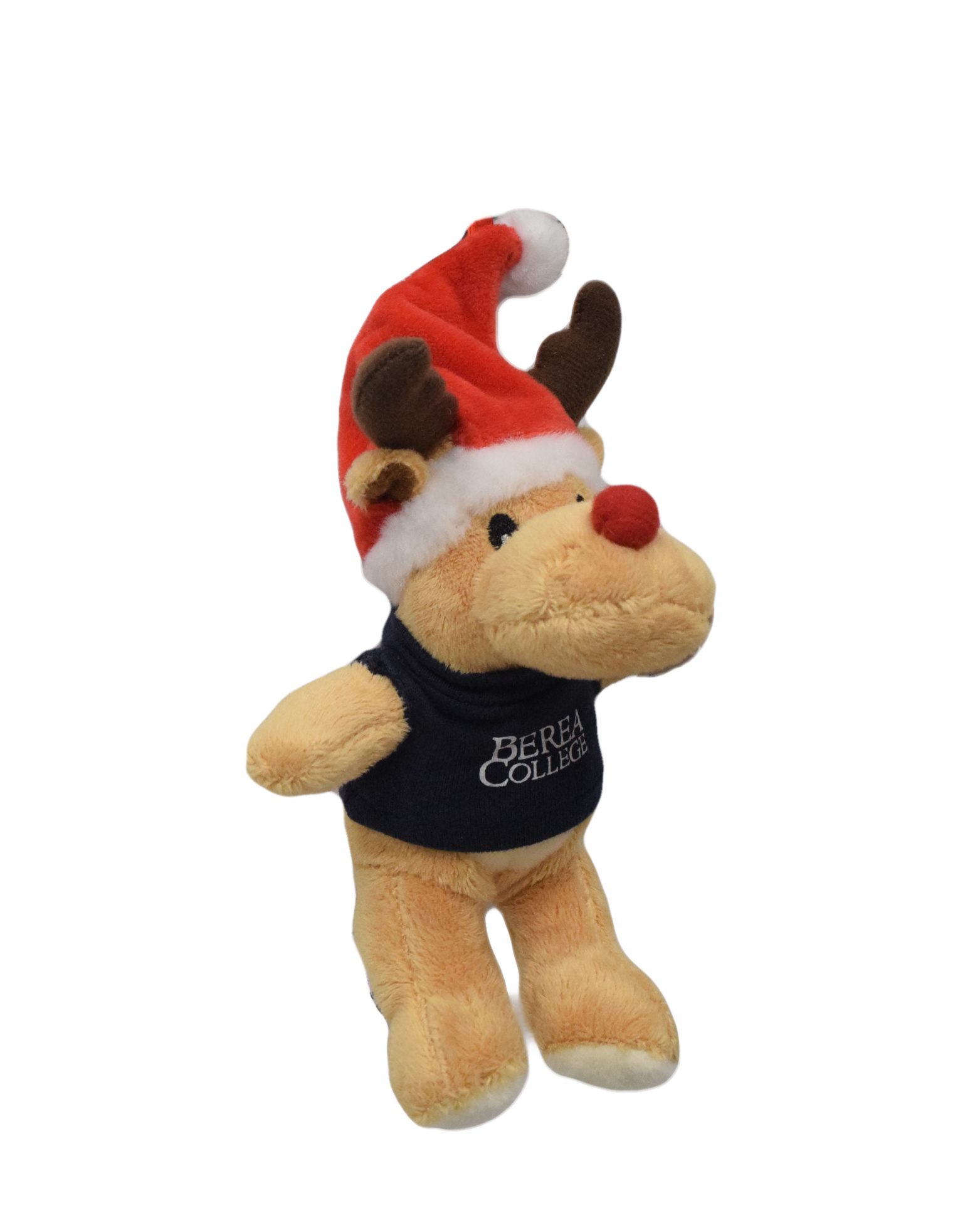 Navy Plush Reindeer Ornament-1