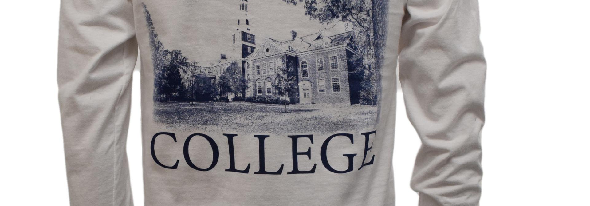 White Draper Hall Long Sleeved T-shirt