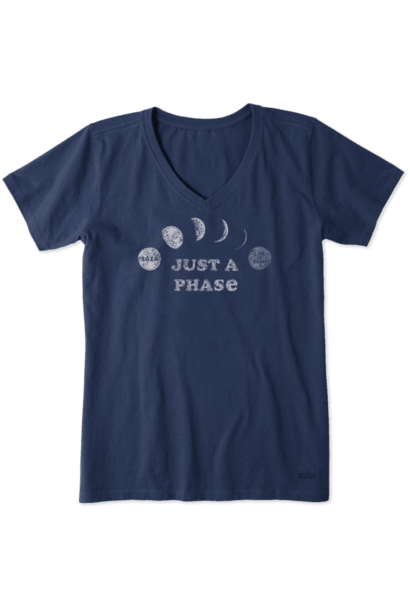 Just A Phase Crusher Vee Neck T-Shirt