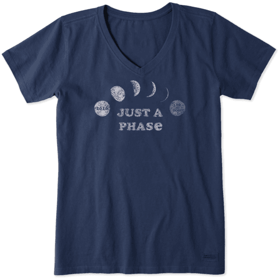 Just A Phase Crusher Vee Neck T-Shirt-1