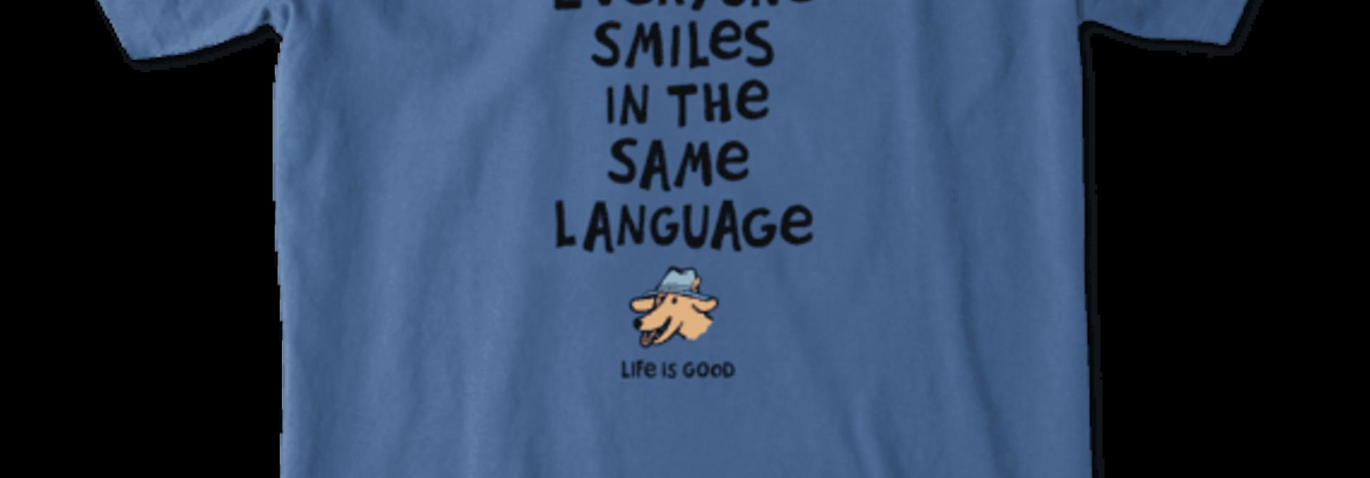 Everyone Smiles Crusher Vee Neck T-Shirt