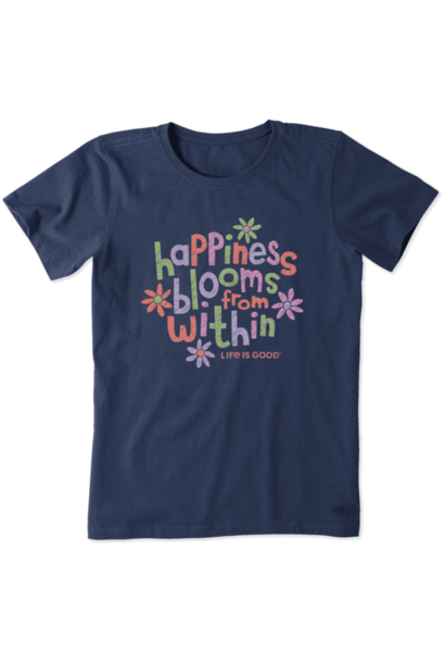 Happiness Blooms From Within Crusher T-Shirt