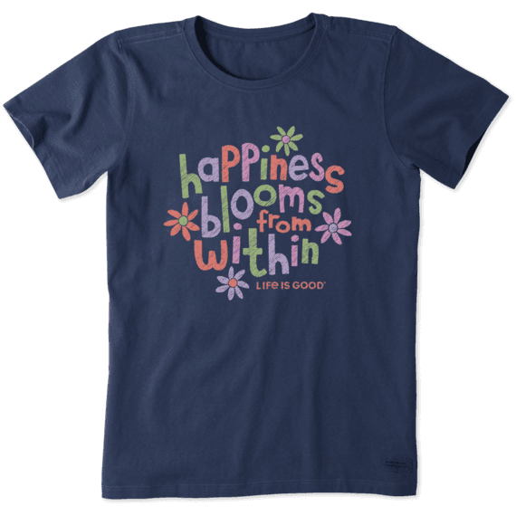Happiness Blooms From Within Crusher T-Shirt-1