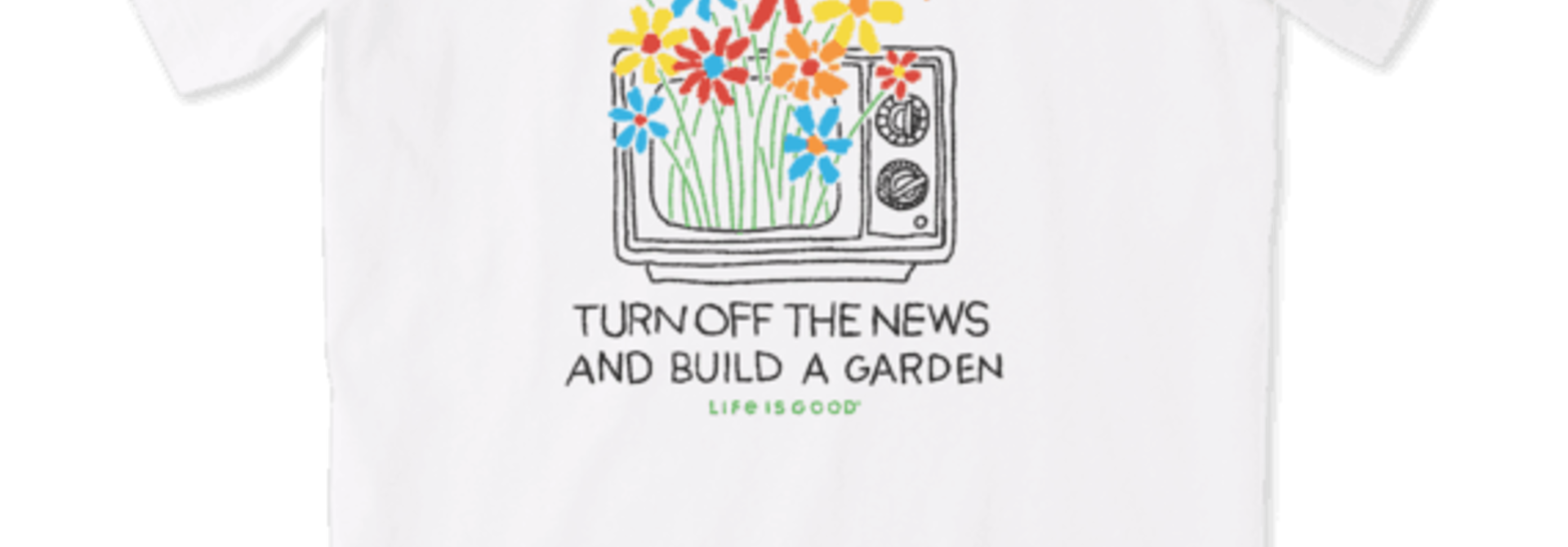 Turn Off The News Crusher T-Shirt