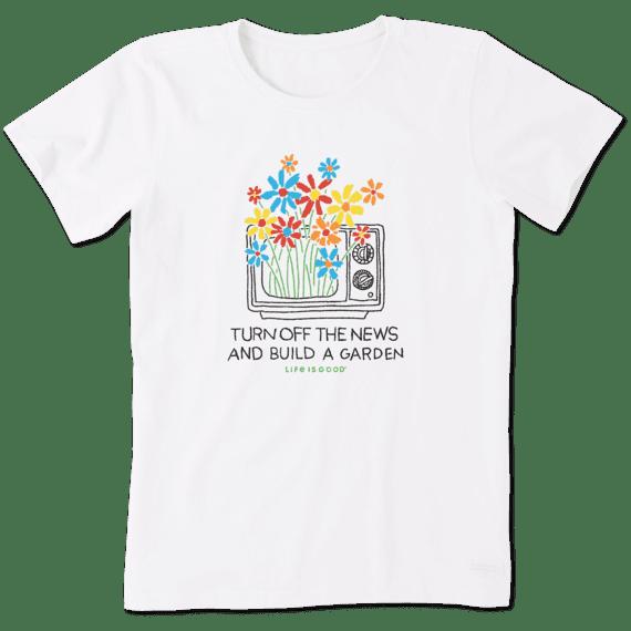 Turn Off The News Crusher T-Shirt-1