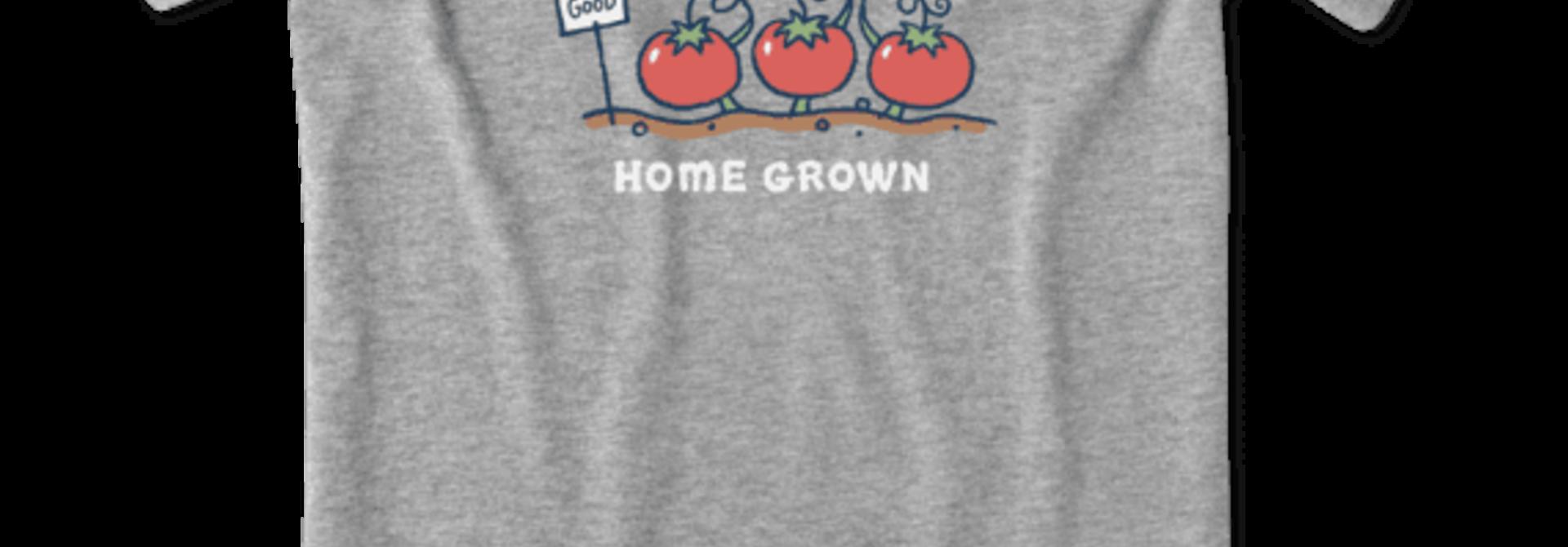 Home Grown Tomato Vee Neck Crusher T-Shirt