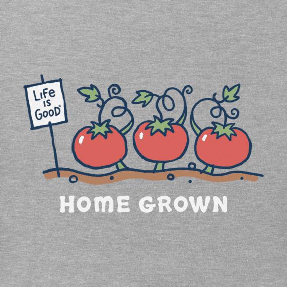 Home Grown Tomato Vee Neck Crusher T-Shirt-2