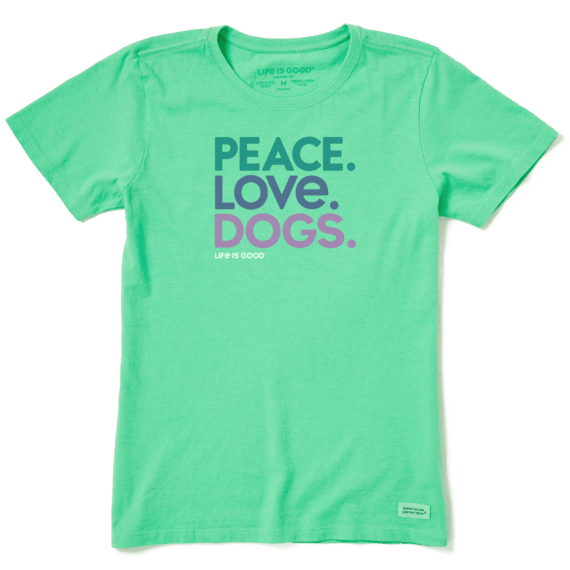 Peace Love Dogs Crusher T-Shirt-1