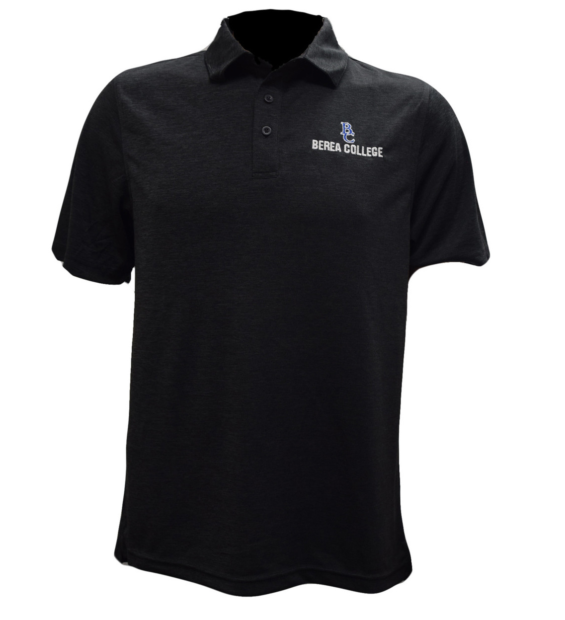 BC Berea College Black Heather Polo-1