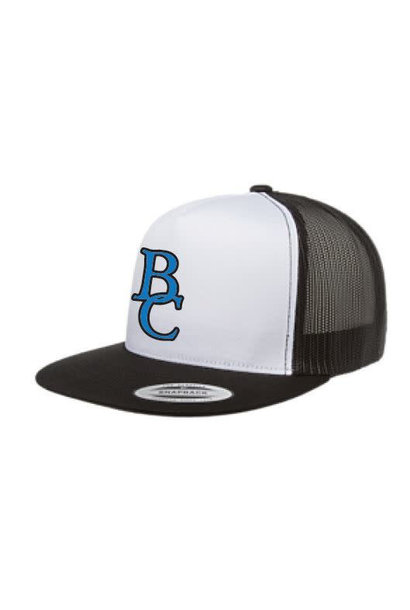 White w/ Black Mesh BC Ball Cap