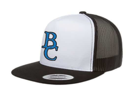 White w/ Black Mesh BC Ball Cap-1