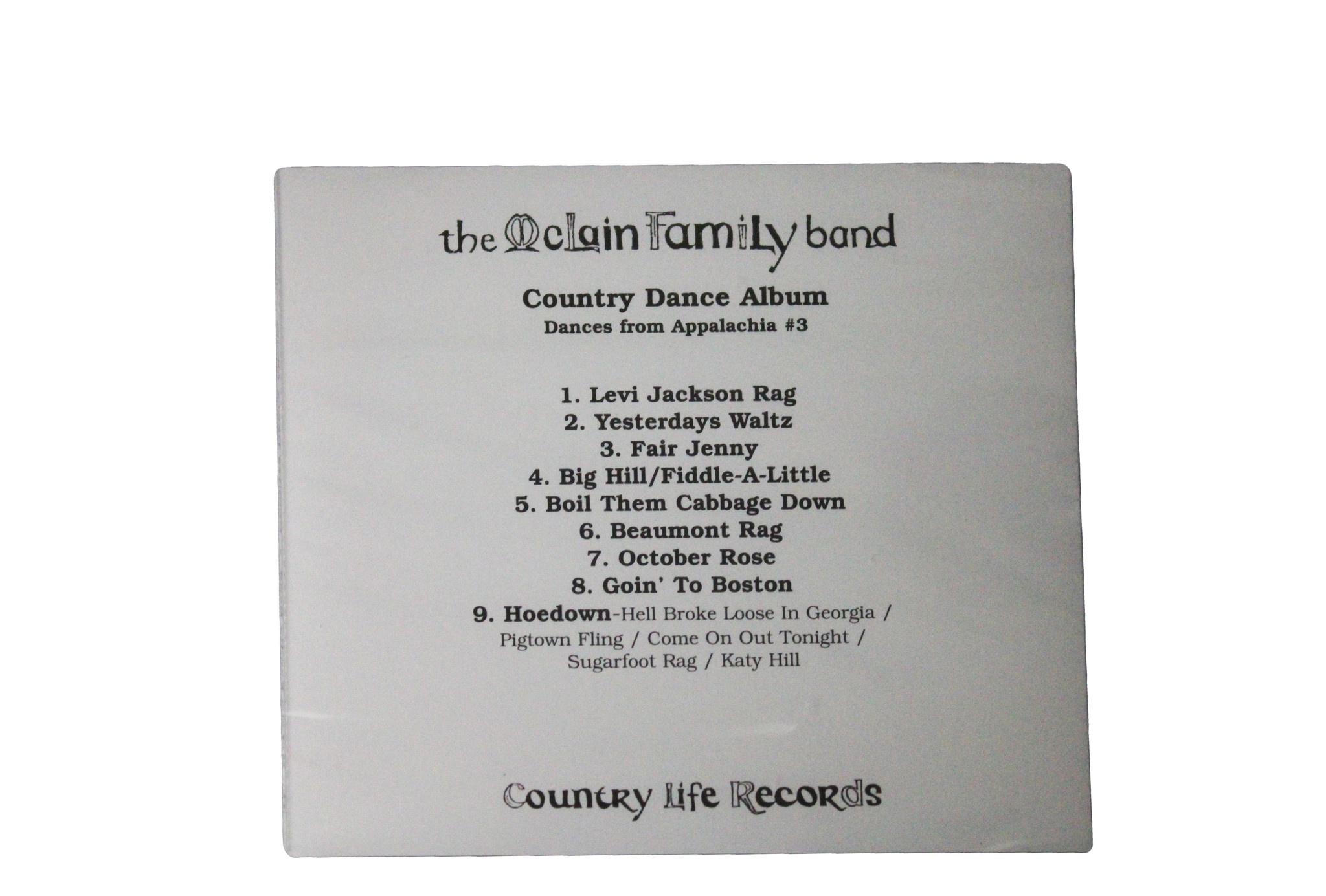 Country Dance Album by McLain Family Band-2