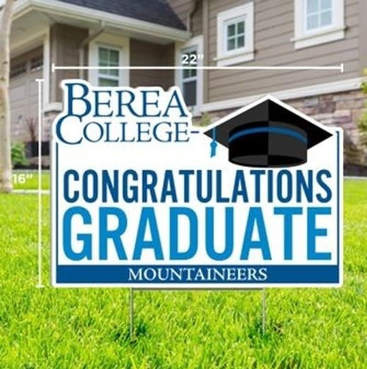 Mountaineers Congratulations Graduate Yard Sign*-2