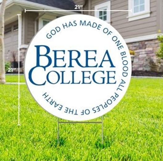 Berea College Circle Logo Yard Sign*-2
