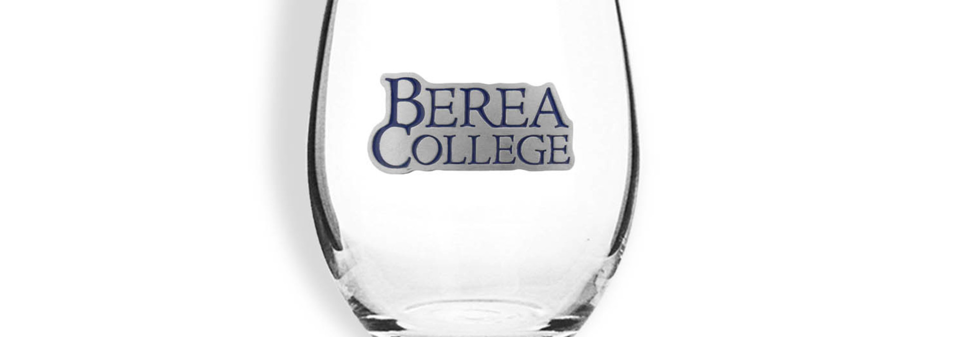 Berea College Stemless Wine Glass