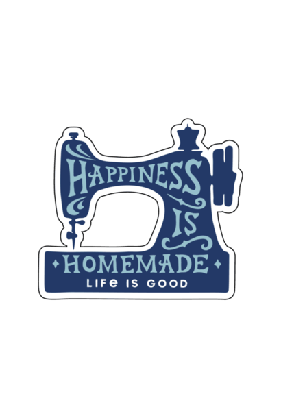 A Small Die Cut Happiness is Home Sticker