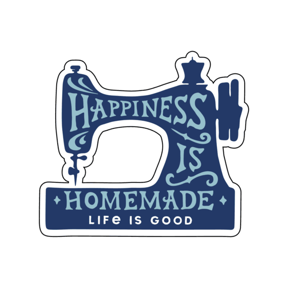 A Small Die Cut Happiness is Home Sticker-1
