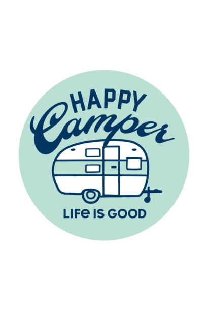 Circle Happy Camper Sticker