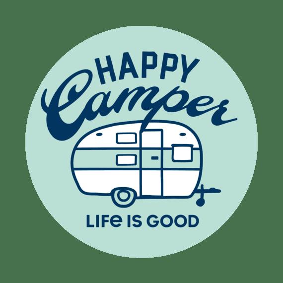 Circle Happy Camper Sticker-1