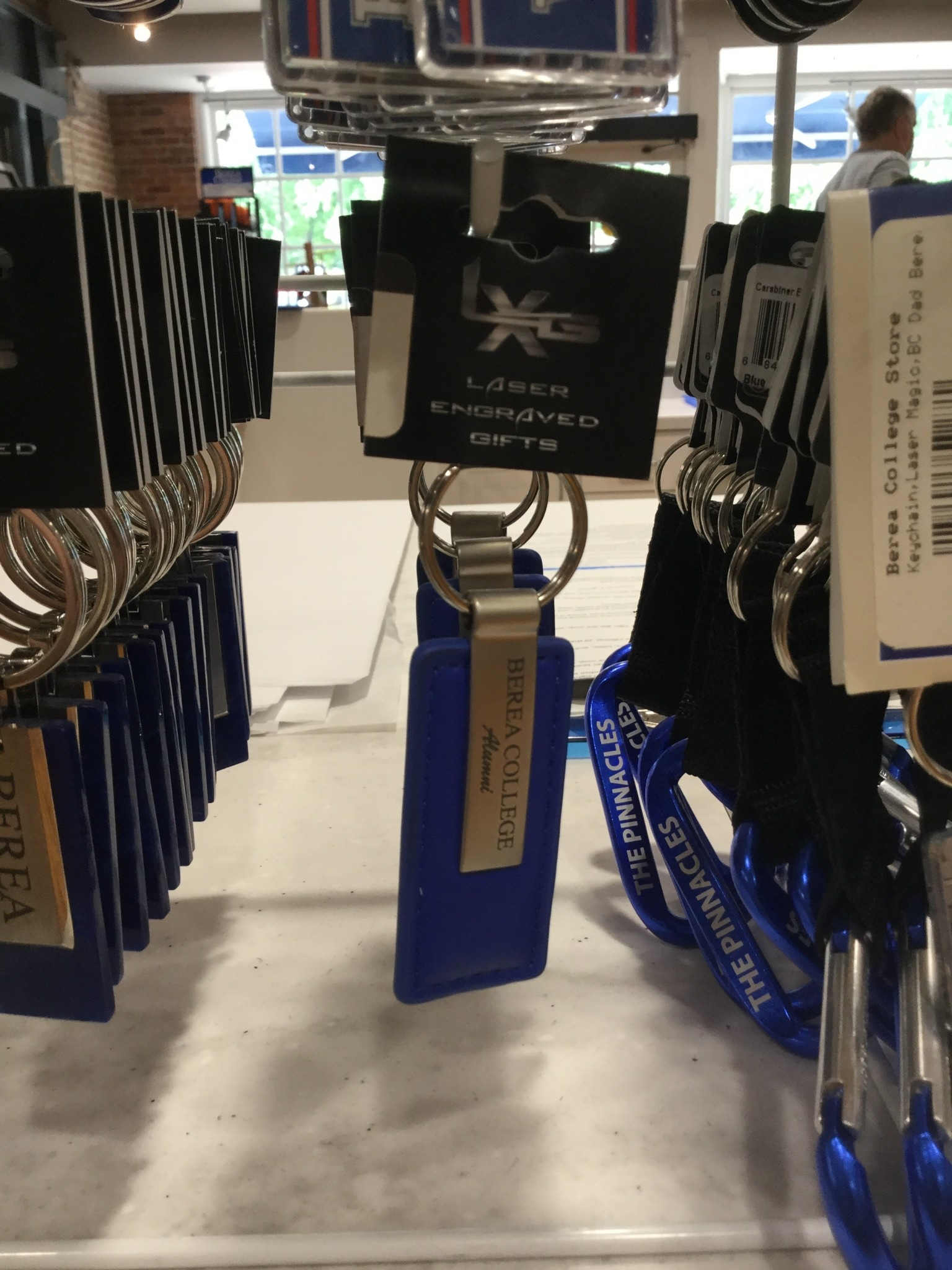Blue Berea College Alumni Keychain-2