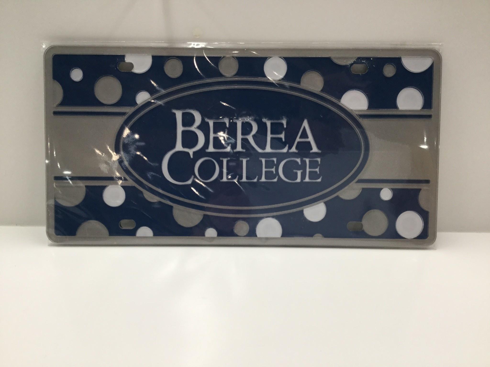 Berea College Polka Dot License Plate-4