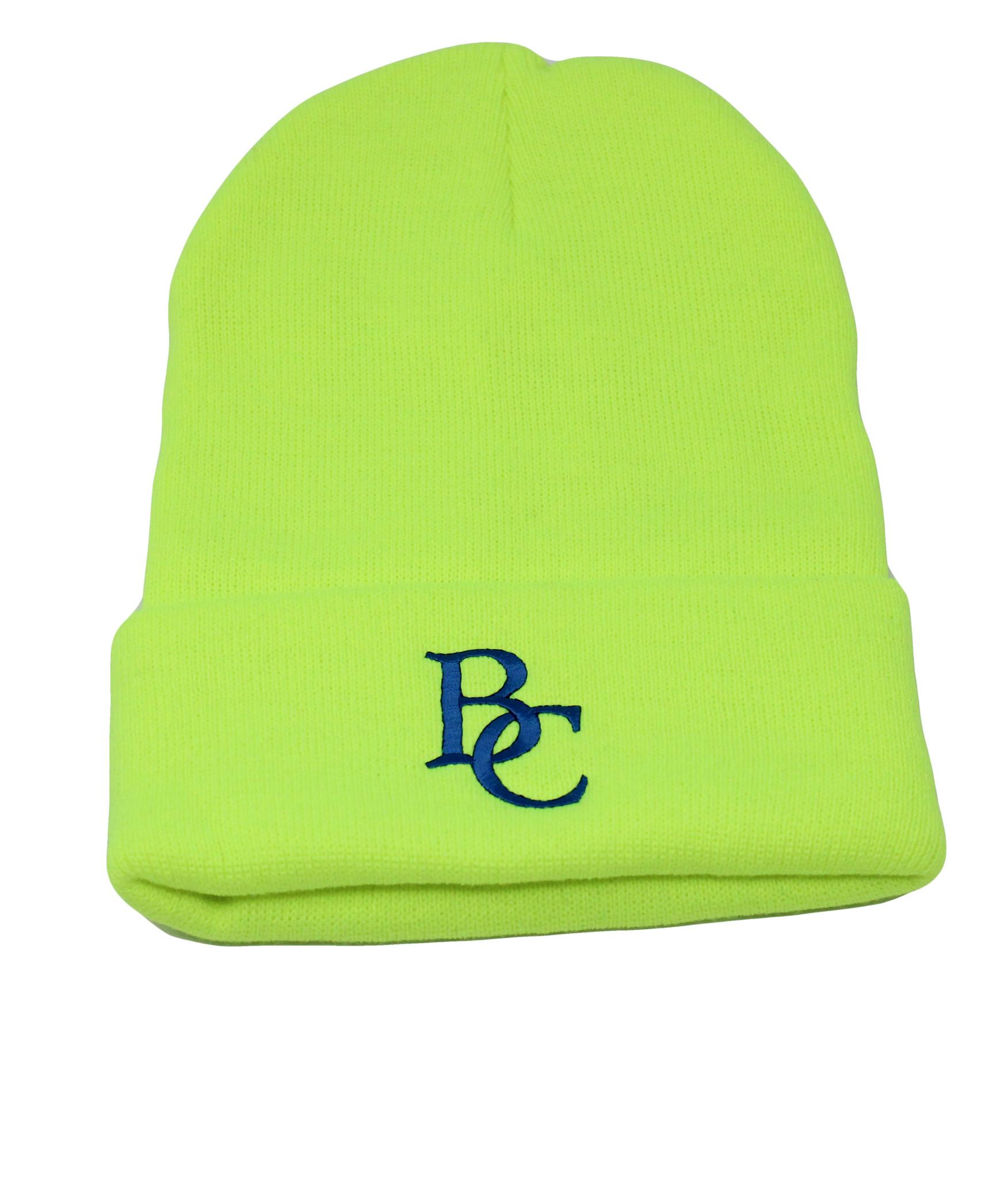 BC Neon Green Beanie-1