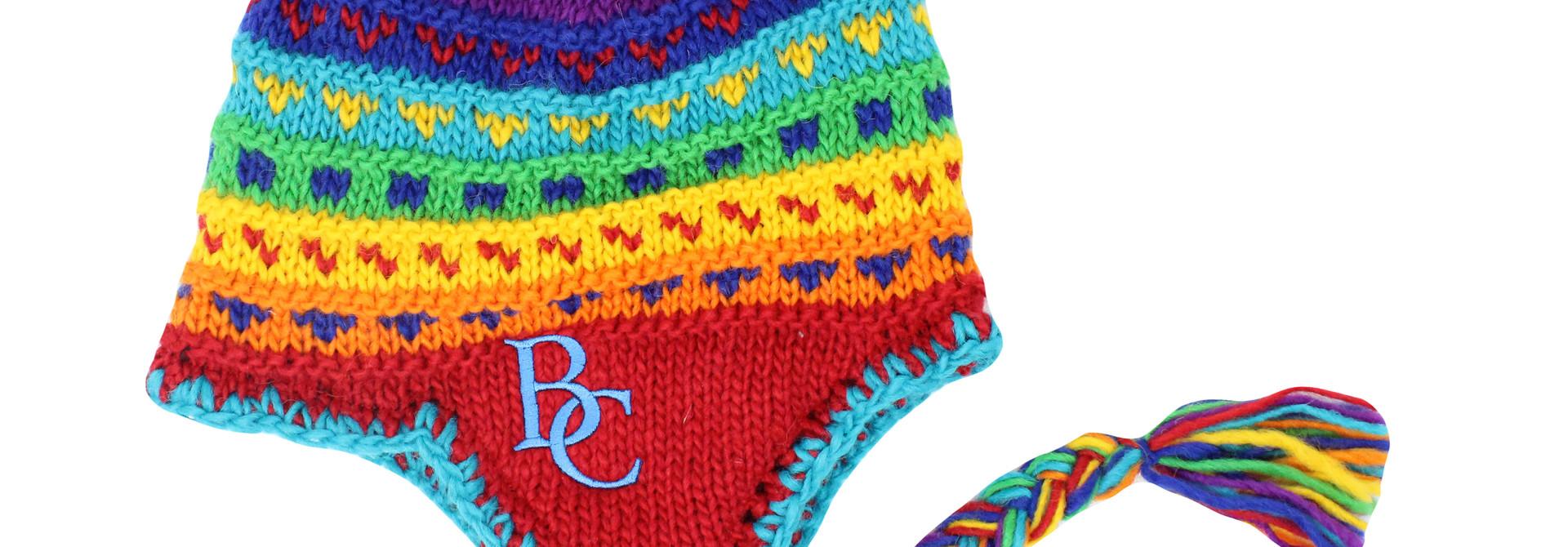 BC Multicolered Tassel Hat