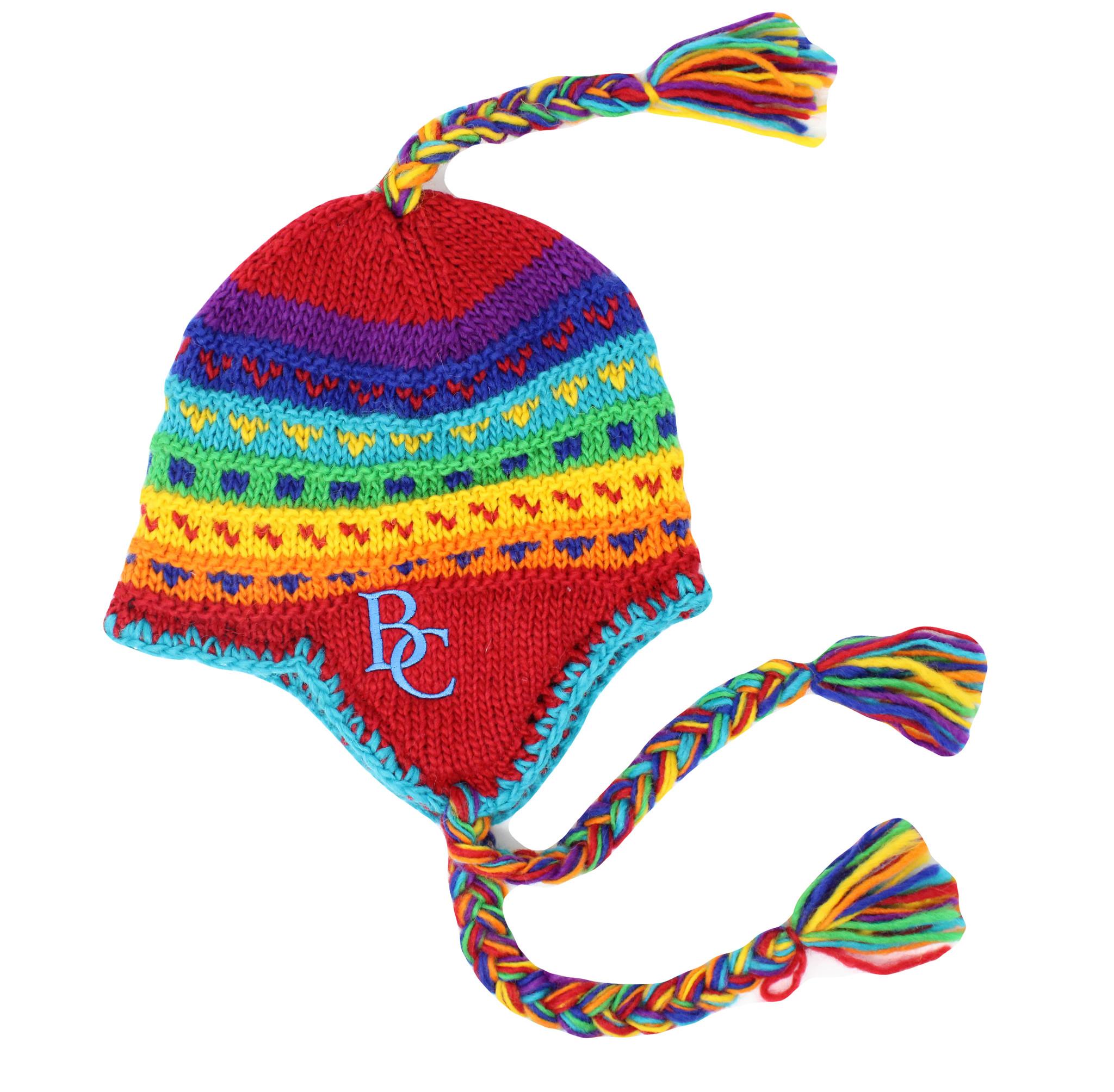 BC Multicolered Tassel Hat-1