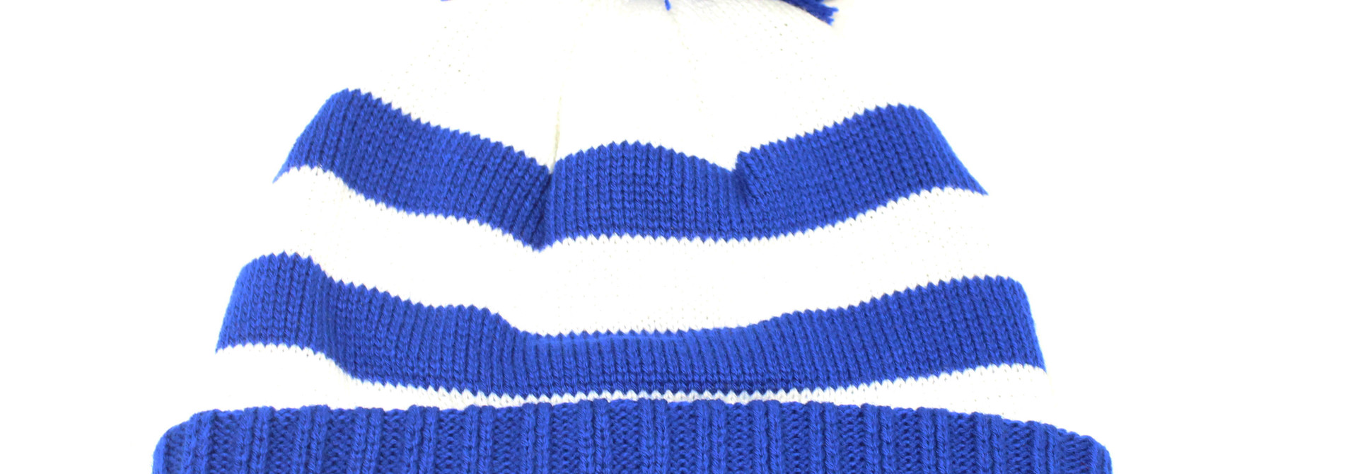 BC Hat With Racing Stripes Royal/White