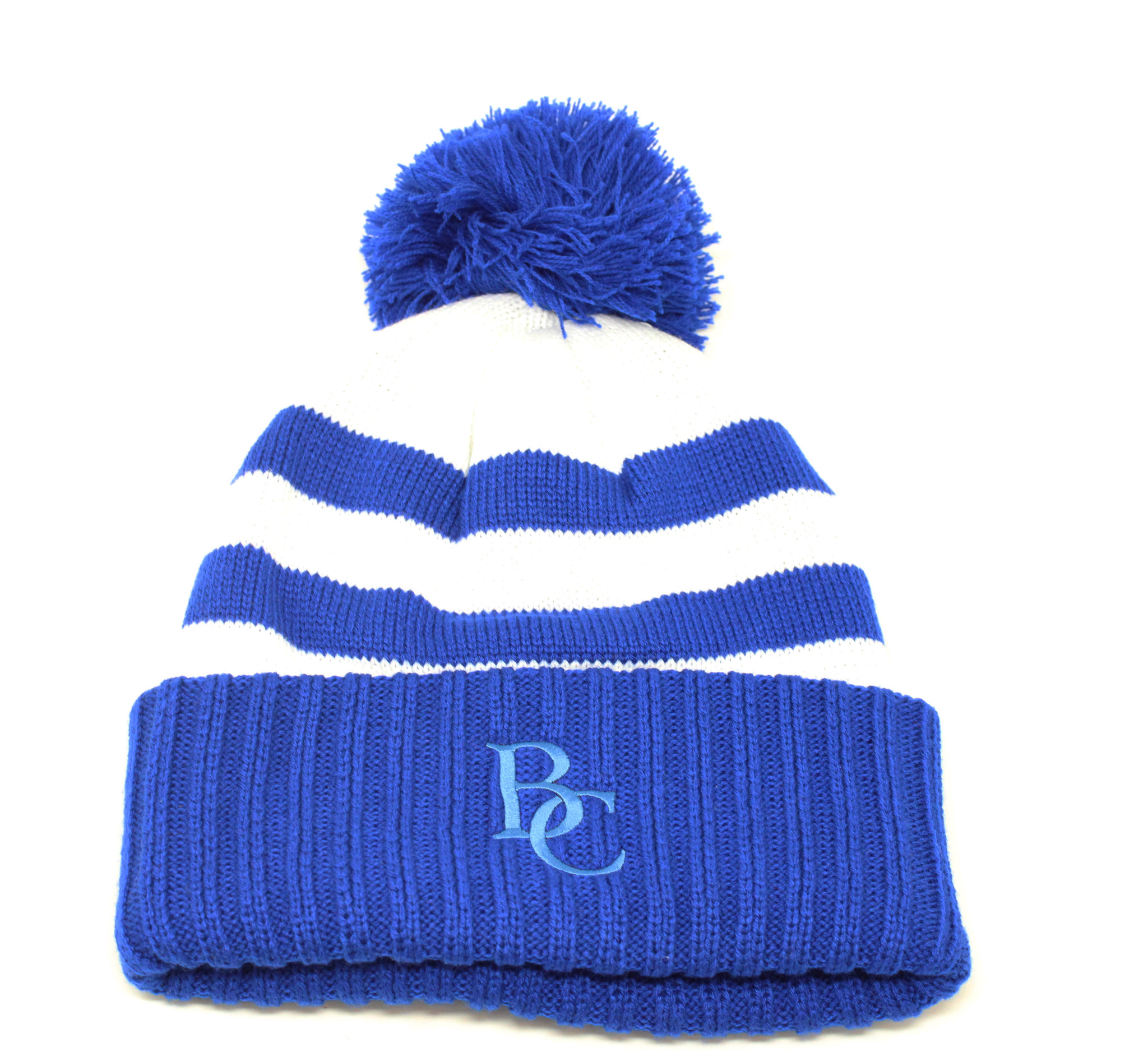 BC Hat With Racing Stripes Royal/White-1