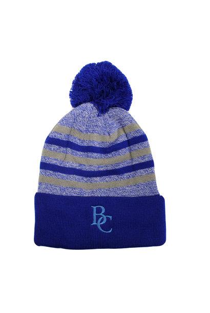 BC Yarn Cuff Hat Royal/Grey