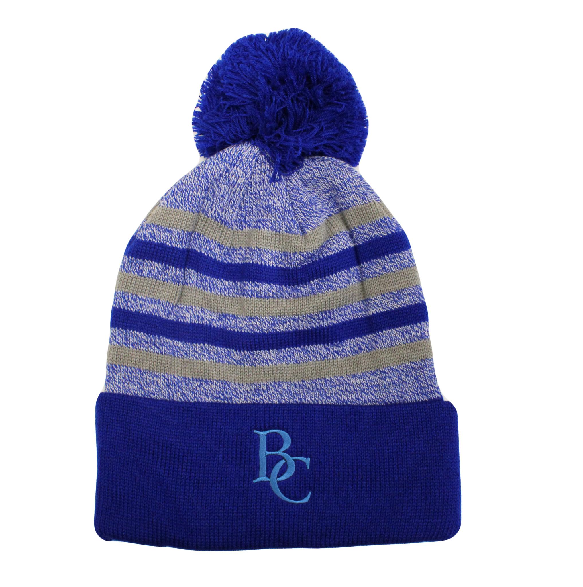 BC Yarn Cuff Hat Royal/Grey-1
