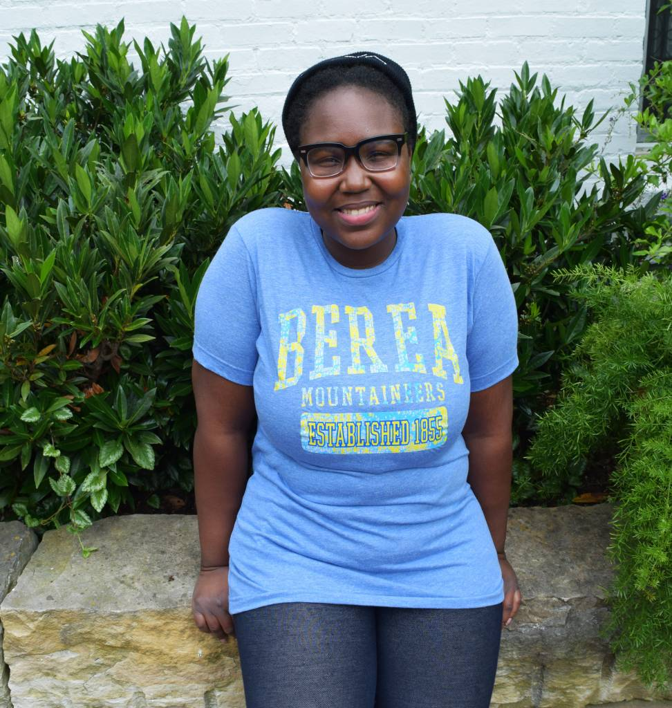 College House Lighthouse Apparel Berea 1855 Distressed Light Blue Tee