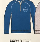Campus Crew Pullover, 1/4 Zip, Embr, Circle Logo, Blue