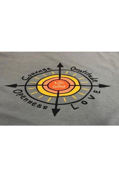 Blue  Sun Compass LIG T-shirt