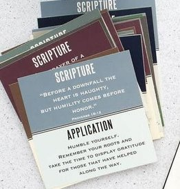 Men's Scripture Cards w/ Wooden Stand