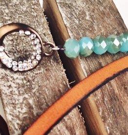 Light Blue & Tan Wrap Bracelet