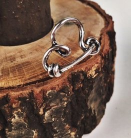 Knotted Silver Heart Ring