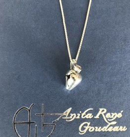 "AG2131 Cracked Pot Lg Necklace 20"" Box Chain"