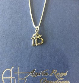 Anita Goudeau AG1045 Cross My Heart Small Necklace